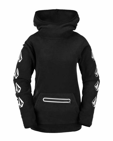 WOMENS POLARTEC® MID HOODY - BLACK