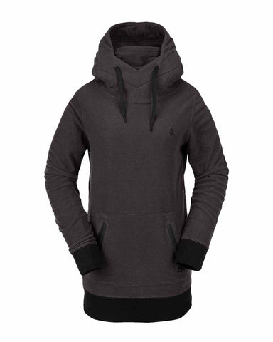 WOMENS POLARTEC® RIDIN HOODY - BLACK