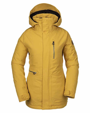 WOMENS SHELTER 3D STRETCH JACKET - YELLOW