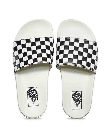 WOMENS SLIDE-ONE CHECKERBOARD MARCHMALLO