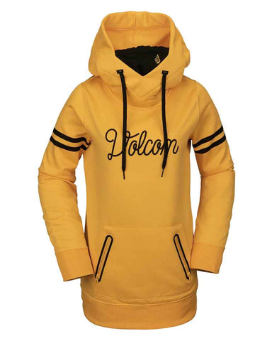 WOMENS SPRING SHRED HOODY - YELLOW