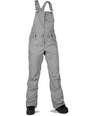 WOMENS SWIFT OVERALL BIB - HEATHER GRAY