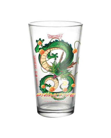 X DRAGON BALL Z 3 SHENRON PINT GLASS GREEN