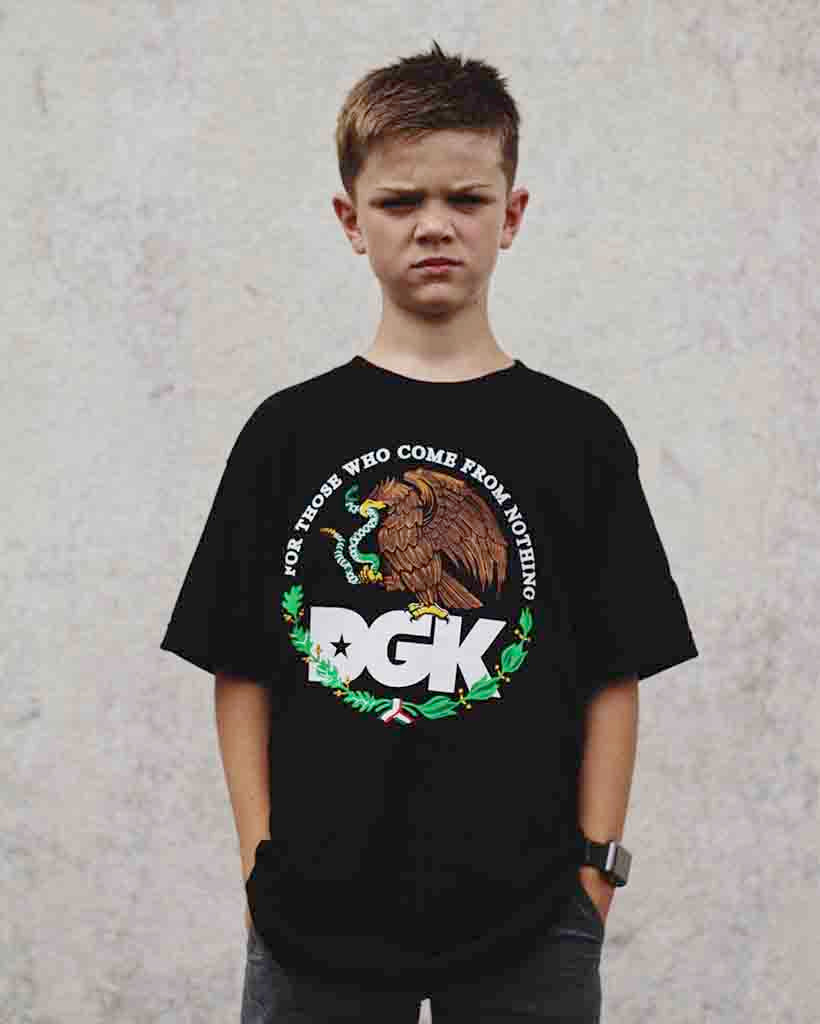 DGK T-shirt YOUTH FAMILIA BLACK