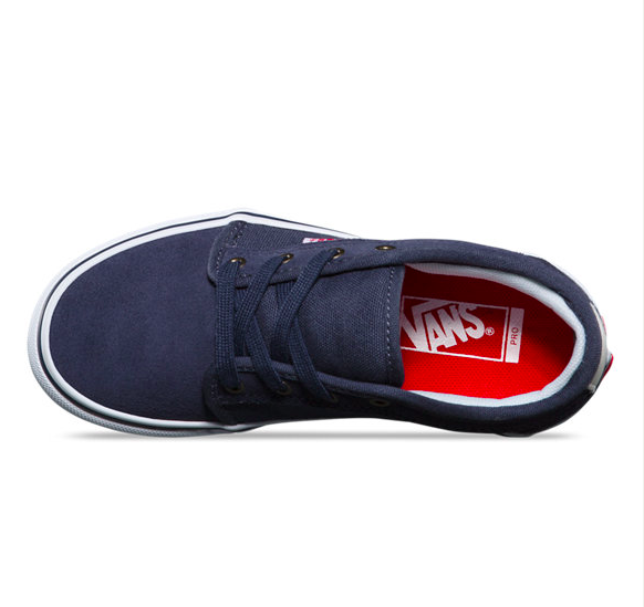 52a84e7e3f VANS Y CHUKKA LOW PERSIAN NIGHT   WHITE   RED - Boutique Adrenaline