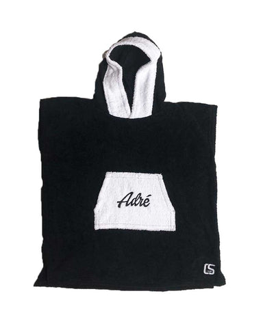 PONCHO SCRIPT CHILD BLACK