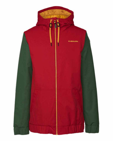 BAXTER INSULATED JACKET RED CHILLI
