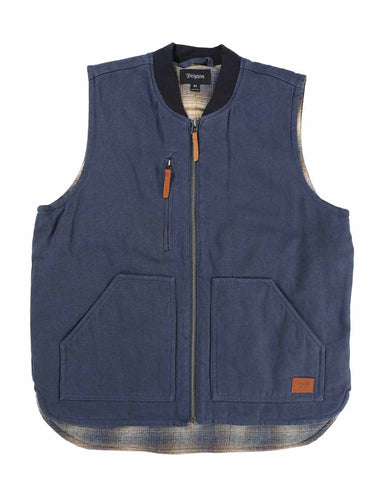 ABRAHAM VEST WASHED NAVY