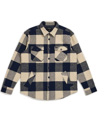 DURHAM L / S FLANNEL NAVY / CREAM
