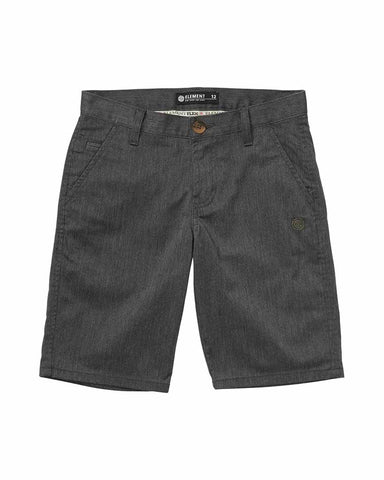 BOYS HOWLAND CLASSIC SHORTS CHARCOAL HEATHER
