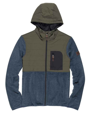 TRENT ZIP ZH HOODIE INDIA INK HEATHER