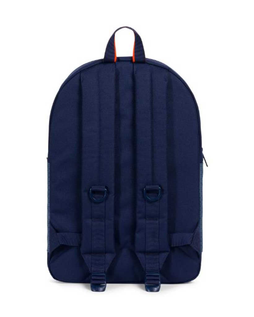 HERSCHEL RUSKIN POLYCOAT Backpack PEACOAT NAVY ORANGE