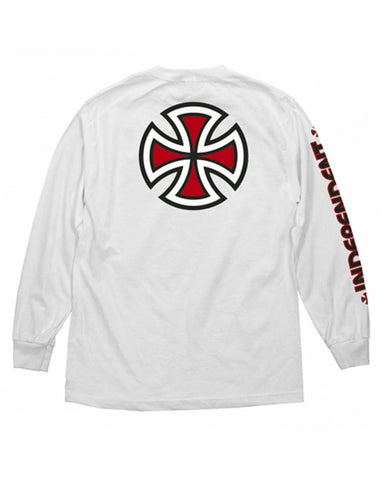 BAR \ CROSS LS TEE WHITE