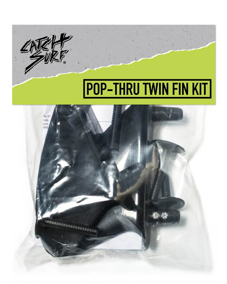 Accessoire surf CATCH SURF TWIN FIN KIT (POP-THRU) BLACK