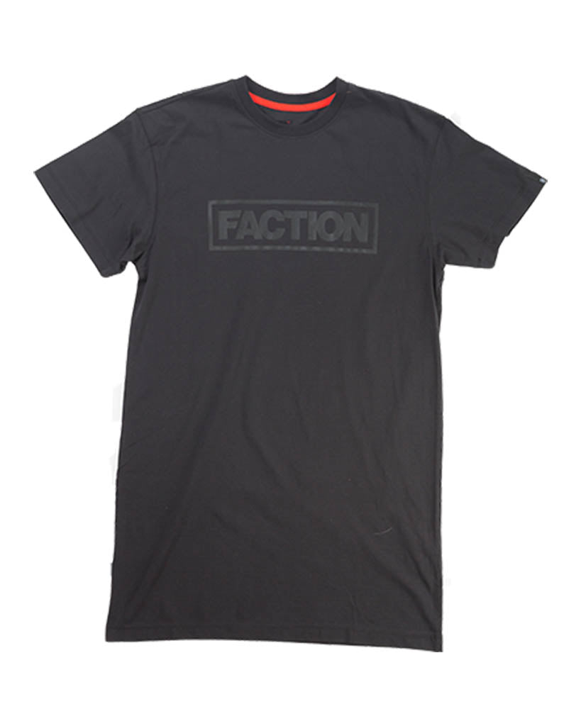 T-shirt FACTION TALL LOGO TEE BLACK