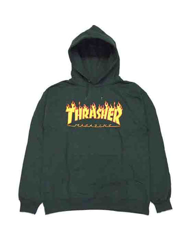 FLAME LOGO FOREST GREEN