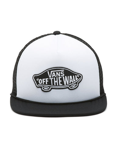 CLASSIC PATCH TRUCKER WHITE BLACK