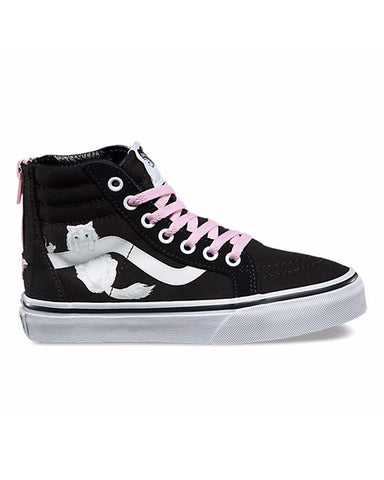 Y SIDEWALL SK8-HI ZIP BLACK WHITE HIDDEN KITTENS