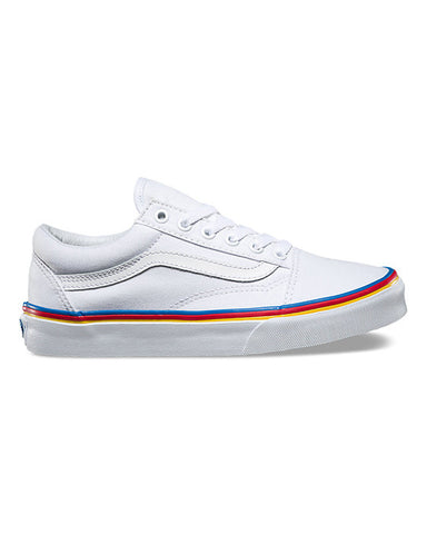 OLD SKOOL RAINBOW FOXING TRUE WHITE