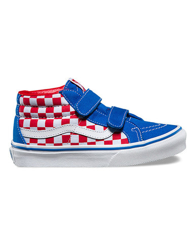 Y SK8-MID REISSUE V CHECKERBOARD RACING RED