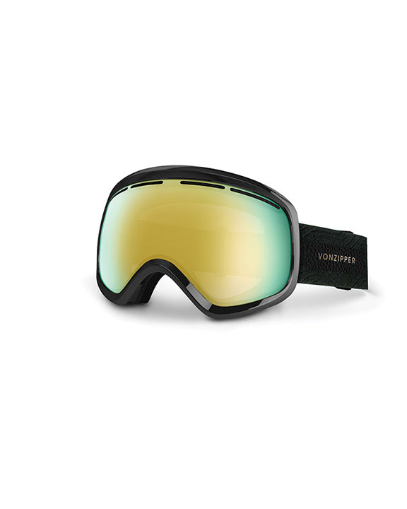 Goggles VON ZIPPER SKYLAB BLACK/GOLD CHROME