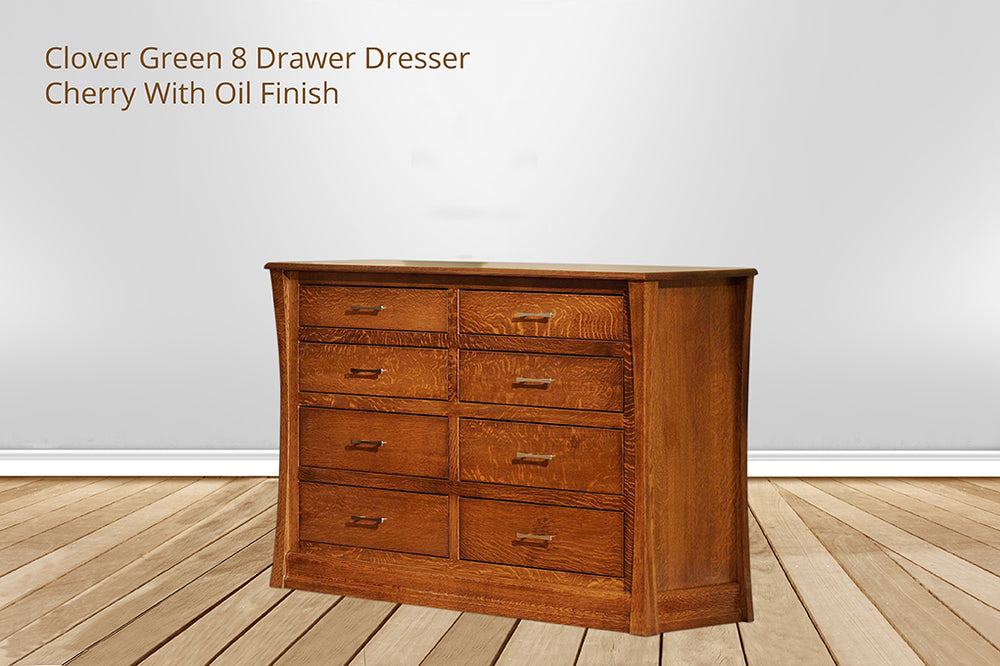 clover green 8 drawer dresser