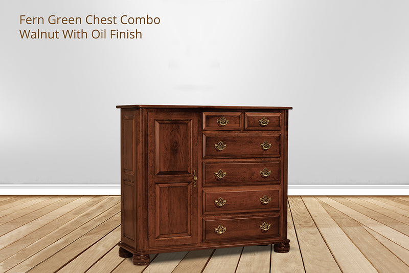 fern green 6 drawer chest combo