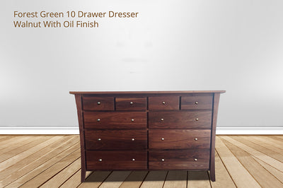 forest green 10 drawer dresser