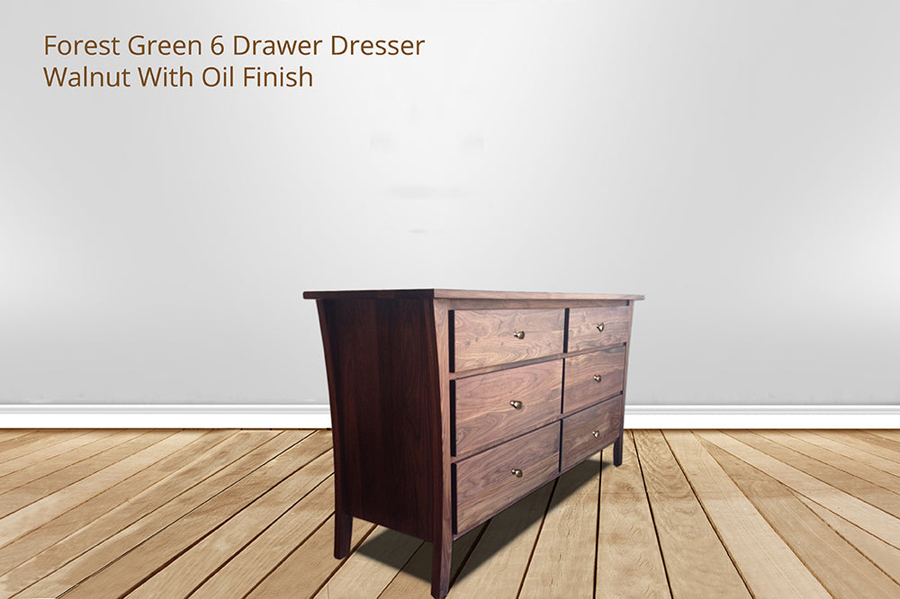 forest green 6 drawer dresser