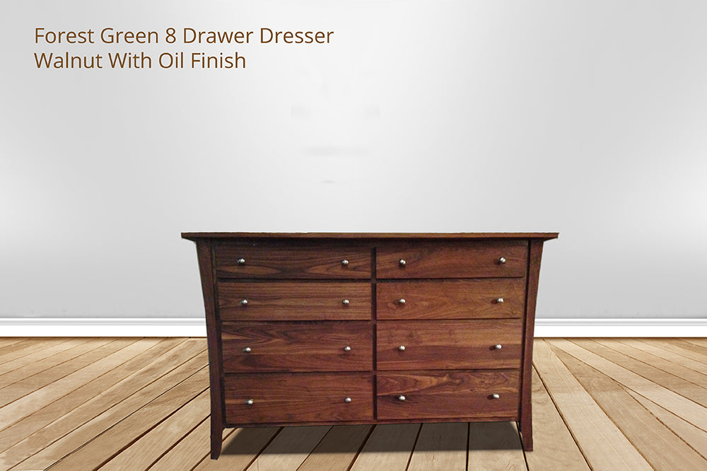 forest green 8 drawer dresser