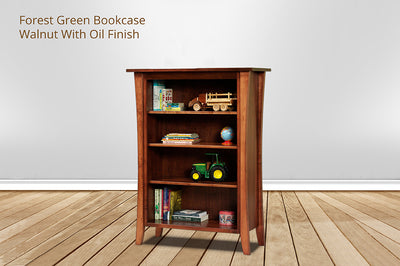 forest green bookcase