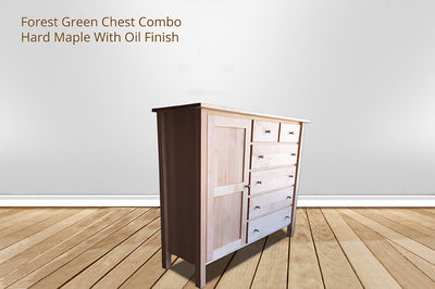 forest green 6 drawer chest combo