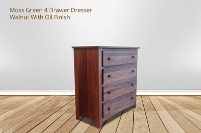 moss green 4 drawer chest