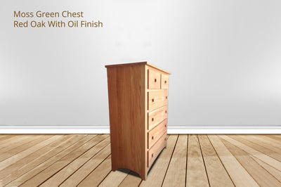 moss green 6 drawer chest