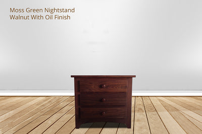 moss green nightstand