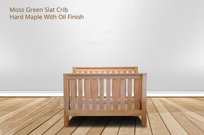 [CUSTOM] moss green slat crib