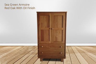 sea green armoire