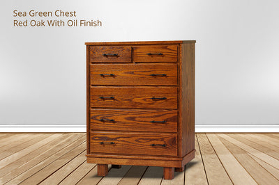 sea green 6 drawer chest