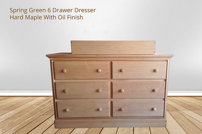 spring green 6 drawer Dresser Changing Table