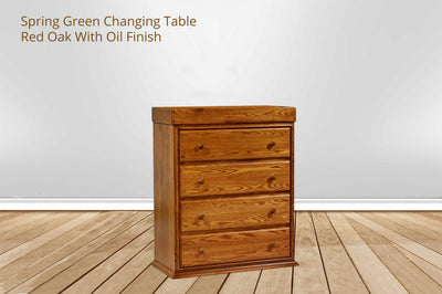 Spring Green 4 Drawer Convertible Changing Table