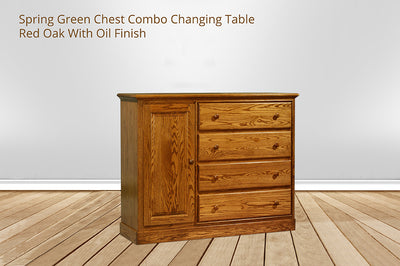 spring green chest combo changing table