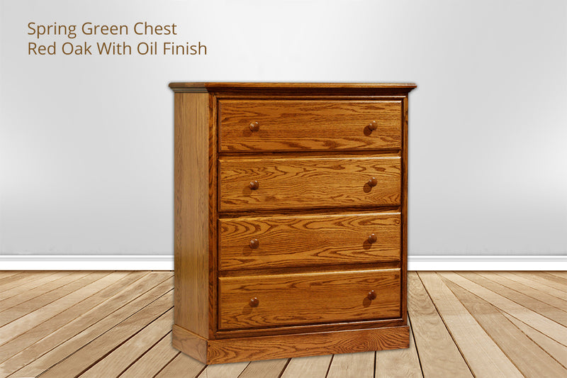spring green 4 drawer chest