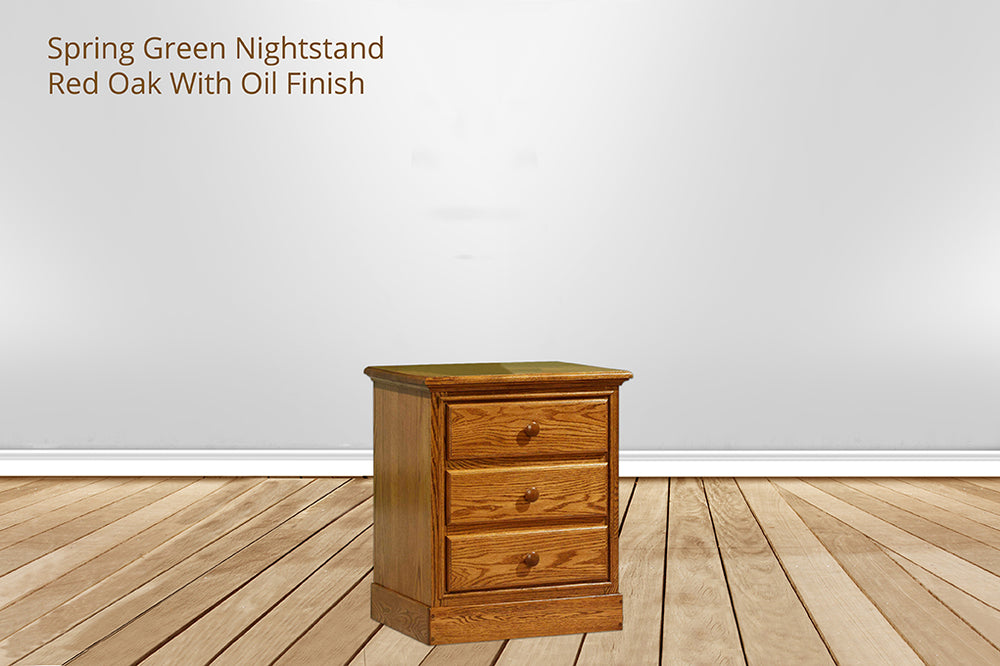 spring green nightstand