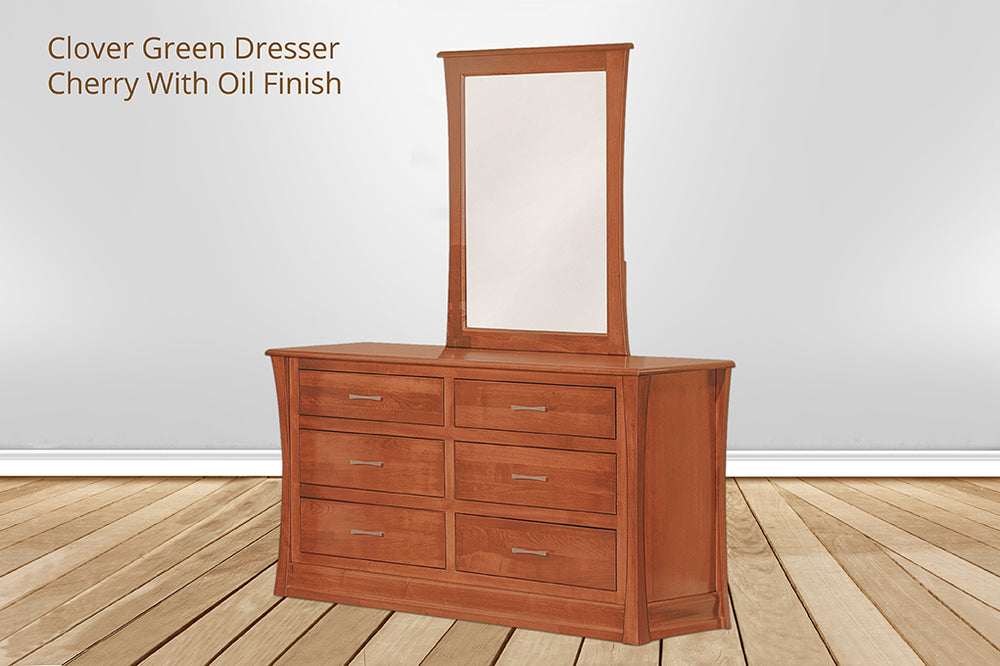 clover green 6 drawer dresser