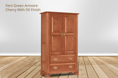 fern green armoire