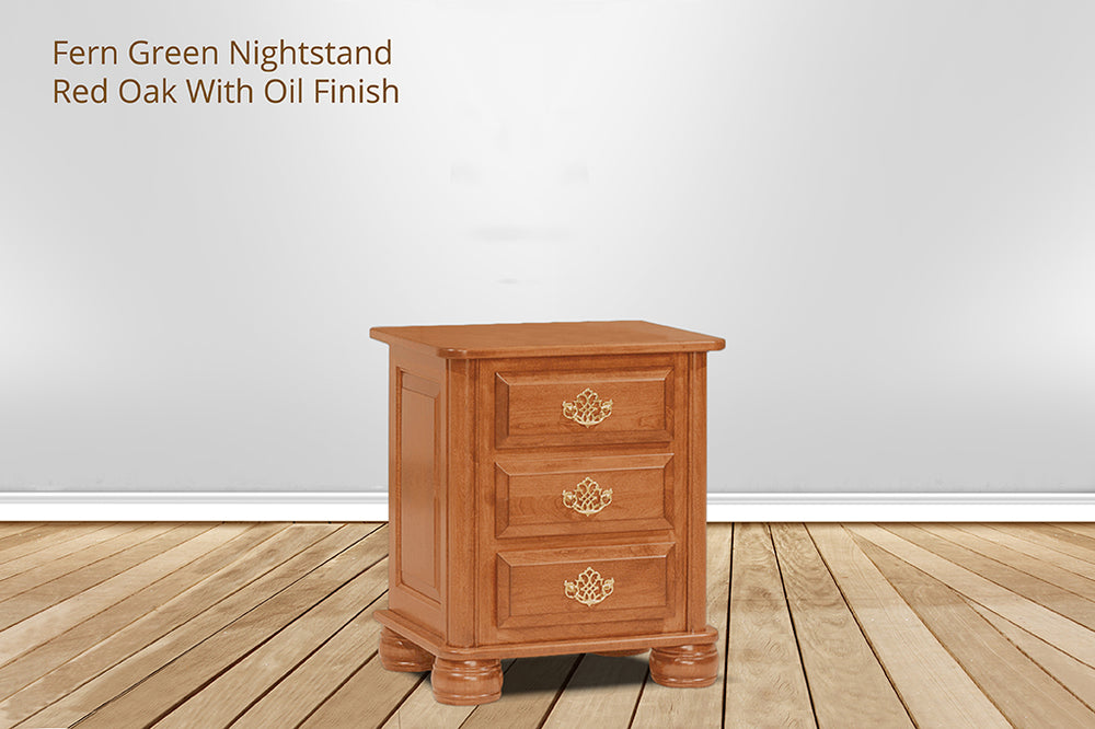 fern green nightstand