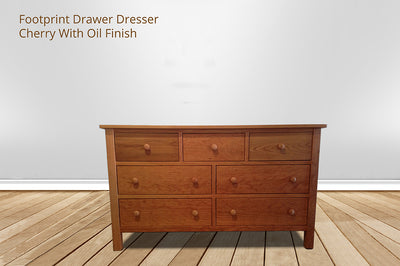 Changing Table Dresser Combo | Footprint Dresser Table