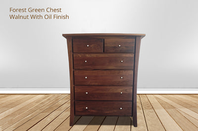 forest green 6 drawer chest