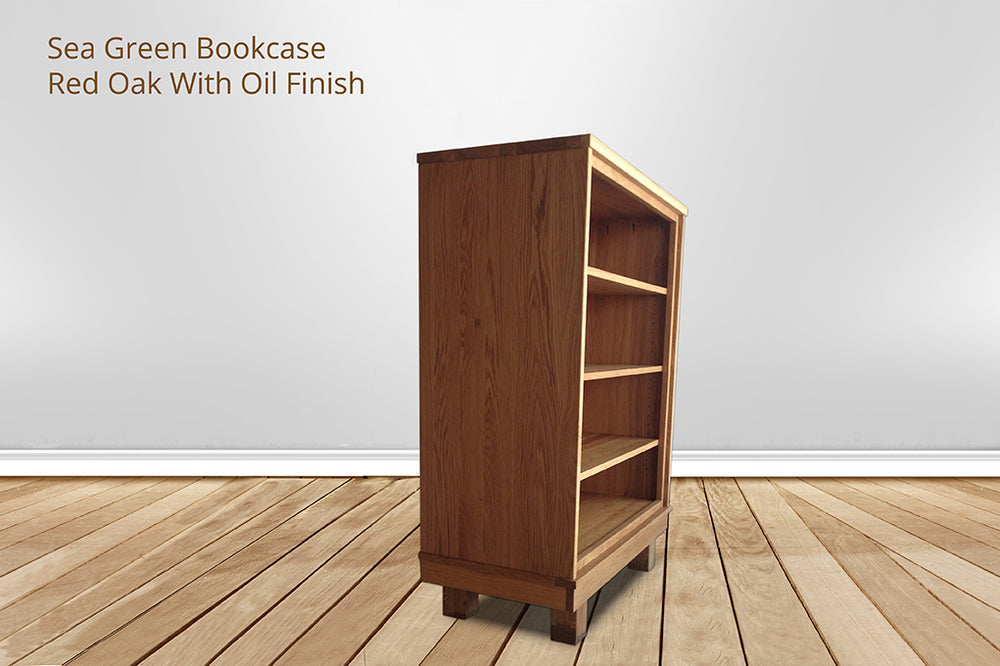 sea green bookcase