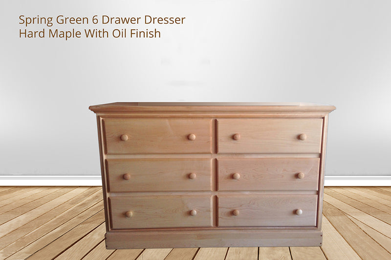 spring green 6 drawer dresser